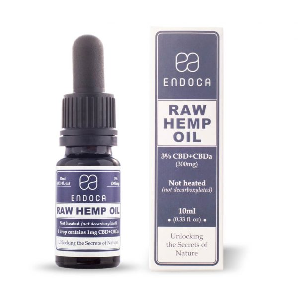 OLEJ KONOPNY RAW 3% CBD+CBDA 10ML ENDOCA